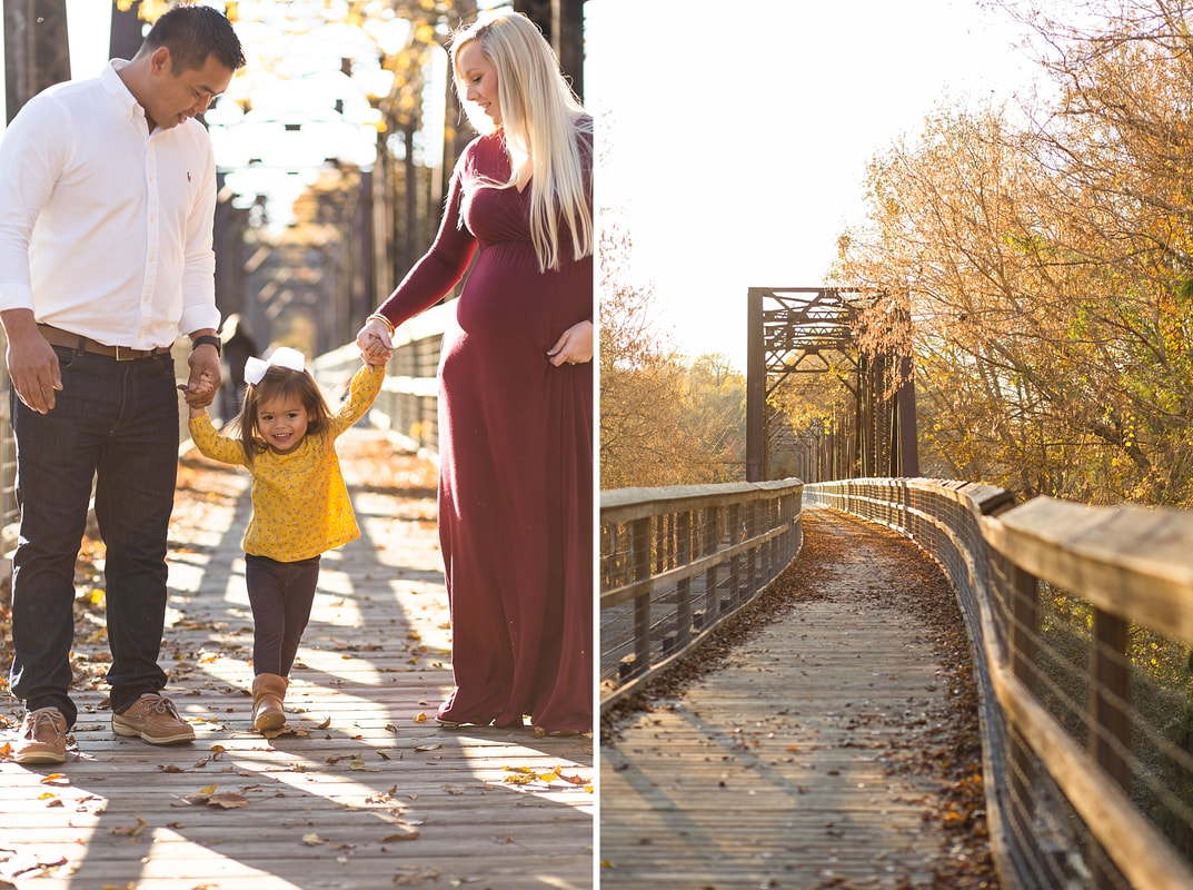 Burgundy & Gold Maternity Session on the Palmetto Trail | Columbia, SC Maternity Photographer | Nicole Watford Photography
