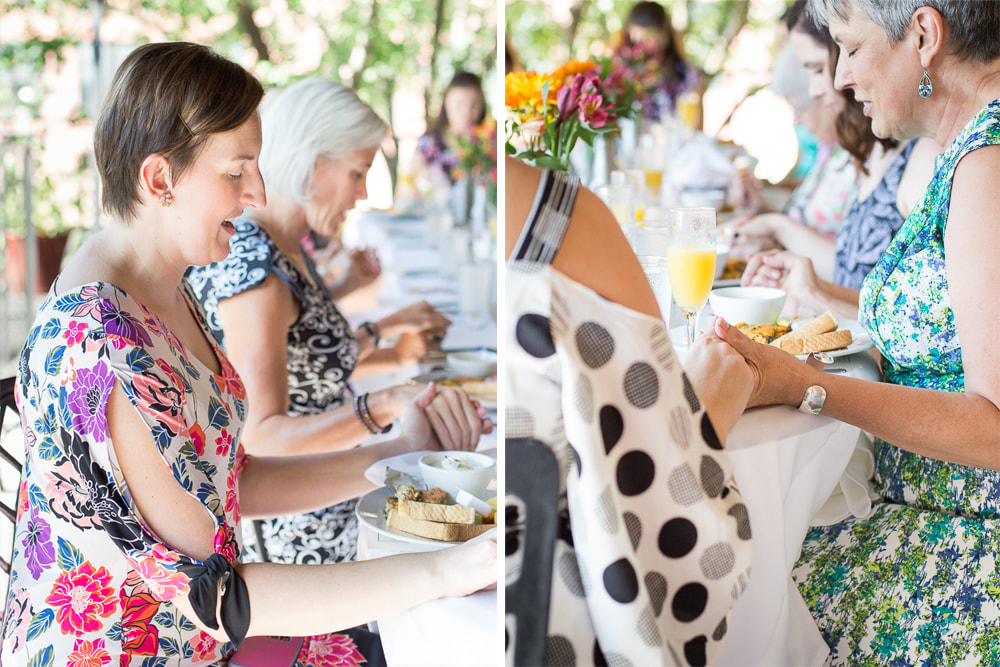Intimate family bridal shower brunch at Mary's at Falls Cottage in Greenville, SC | Nicole Watford Photography