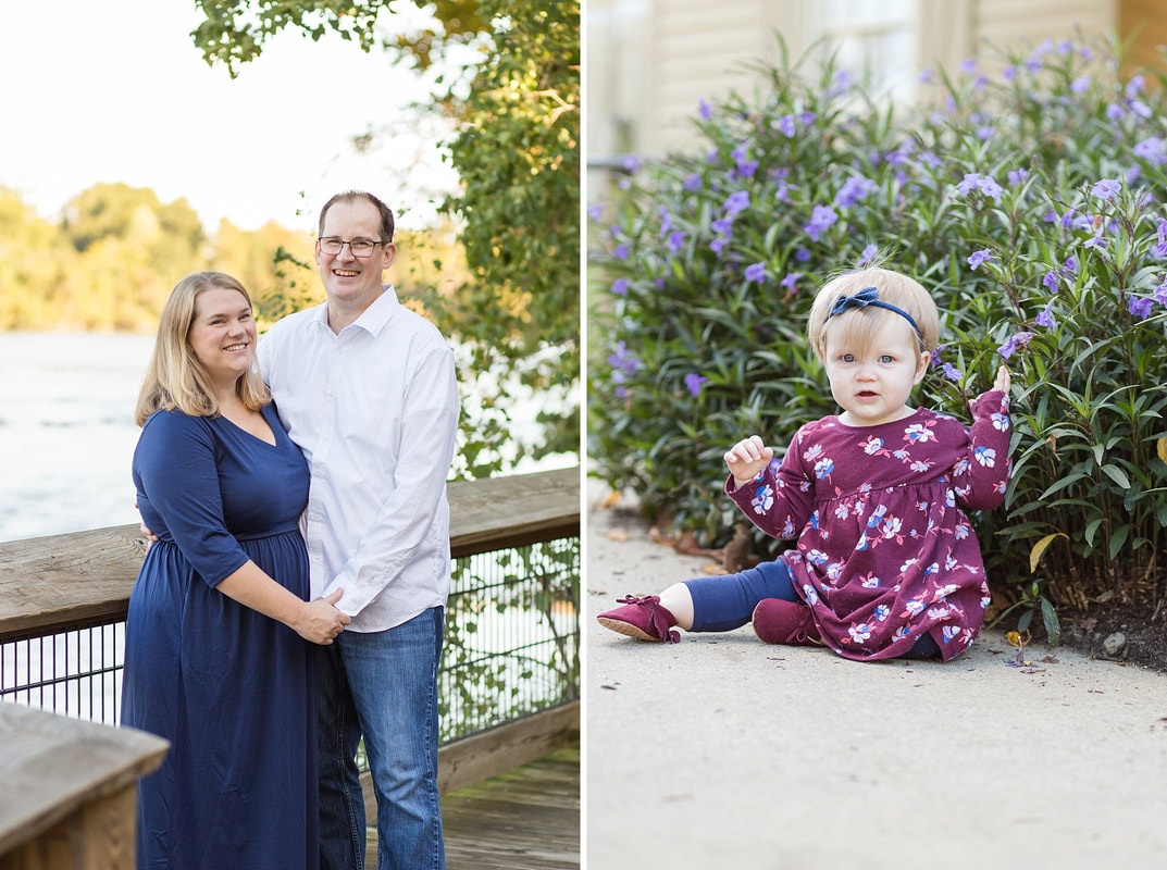 Navy & Burgundy Fall Family Session | Columbia, SC Family Photographer